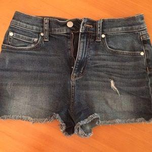 PINK jean shorts